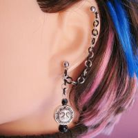 Moon and Sun Cartilage Earring by merigreenleaf