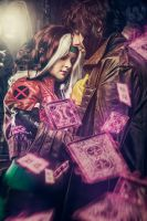 Rogue and Gambit: Cards by miyumiyuchancosplay