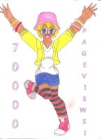 70, 000 PAGEVIEWS... THANK YOU by animequeen20012003