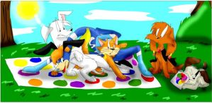 A game of super twister by xAshleyMx