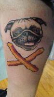 Pug and Cross-Bacon by MercuryDemosthenes
