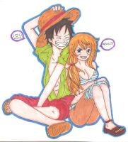 LUFFY AND NAMI by White-Frost05