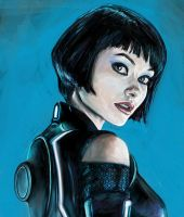 Olivia Wilde,as Quorra by Gizmoatwork
