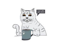 Coffee Cat by AprilMaybe