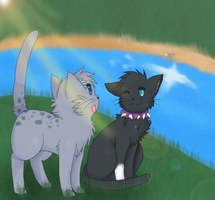 Scourge and Ashfur - AT by Cherkivi