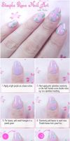 How To Do Rose Print Nail Art Tutorial by VioletLeBeaux