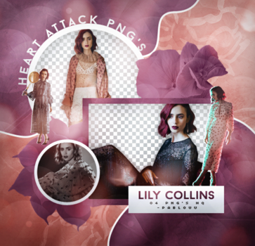 +Lily Collins Pack Png by Heart-Attack-Png