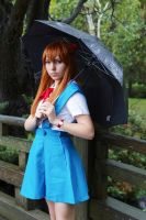 Asuka in the rain by Lightning--Baron