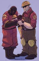 Commission- Pyro and Engie by MadJesters1