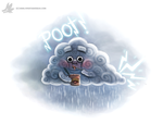Daily Paint #979. Farting Thunder Cloud (OG) by Cryptid-Creations