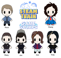 Updated Game Grumps Chibi's by Bloody-Uragiri