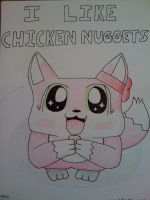 Taffy Likes Chicken Nuggets by WaffleFox