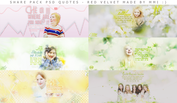 Share PSD Quotes - Red Velvet by CeByun688