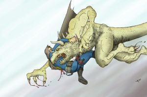 Man Vs. Deathclaw by Dogmeatlives