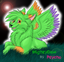 MightyGlow Art trade by PsychicPsycho