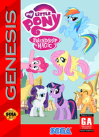 My Little Pony: FIM Sega Genesis Box Art by SegaGenesis4100