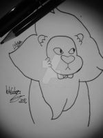 Inktober 2016 - Day 4: Lion by lubans