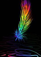 Rainbow Feather by HilarityRules