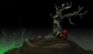 The Spooky Tree by ne0n1nja