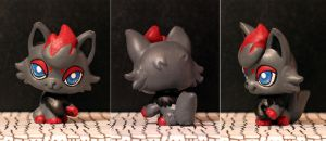 Zorua Littlest Pet Shop custom by pia-chu