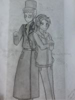 APH Sweden and Pewdiepie fan art~ by rosethorncams14