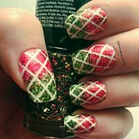 Christmas lattice nails  by soimmature