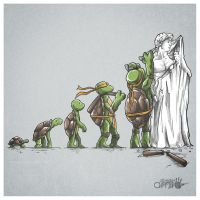 Michelangelo SHIRT AVAILABLE AT RIPT $10US by AlbertoArni