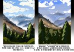 Art lesson one: composing scenery by brokencreation