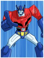 TF Animated Optimus Prime by iq40