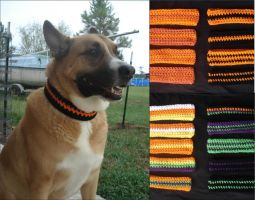 Halloween Inspired Dog Collars by RebelATS