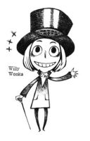 Willy Wonka by Hallpen