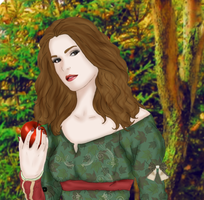 Autumn in Her Heart Detail by Ladymalk