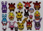five nights at freddy's!!! by stefano-roca