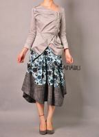 Blue Victorian Pleated Skirt11 by yystudio