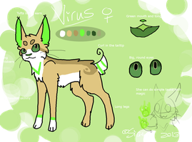 Ref Sheet - Virus by SekoSirita