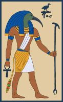 Djehuty, bka the God Thoth by Tutankhamun