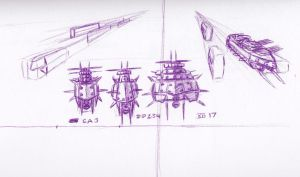Air Warship Types by FeralLion