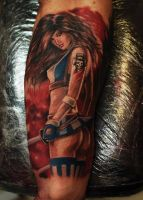 Ivan Bor Colour Realism Tattoo by HammersmithTattoo