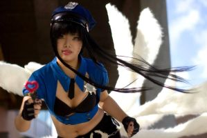 League: Officer Ahri by xXSnowFrostXx