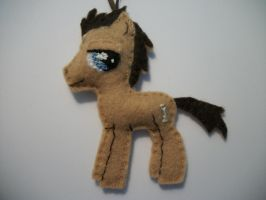 Dr Whooves Handmade Mini Felt Ornament 1 by grandmoonma