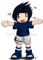 + chibi sasuke + by infinite-delusions