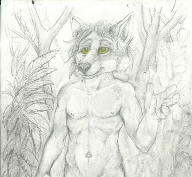 A walk in the Rain Forest W.I.P. by CosmoCoyote