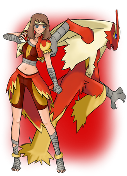 POKEGIRLS COSPLAY - 'Blaze' May by Call-Of-The-Indie