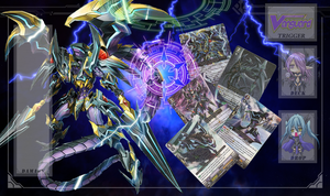 Custom CardFight Vanguard Playmat Shadow Paladin by demonmaycry