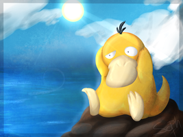 054. Psyduck by aWWEsomeSoph