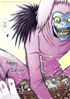 Death Note - Ryuk Easter Bunny by CainAndrew