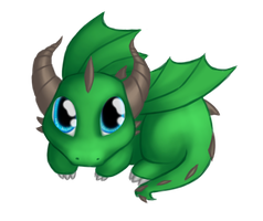 Com: Green dragon by Sireynia