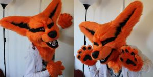 Kyuubi partial by TheKareliaFursuits