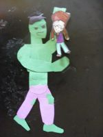 Paper Hulk and Paper Doll Banner by CoolestNinja1242