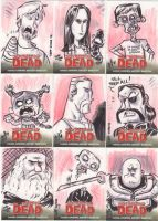 Walking Dead Sketch Cards 1 by JeffVictor